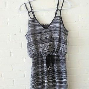 City Triangles Black and White Sundress L
